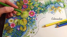 Hi Guys This Video Is A Step By Tutorial Of How One Can Achieve Amazing Leaves Page In The Secret Garden Coloring Book Johanna Basford