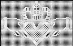 Medium Claddagh Chart - free wedding crochet pattern