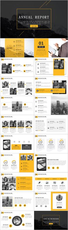 Yellow simple report PowerPoint template on Behance #powerpoint #templates #presentation #animation #backgrounds #pptwork.com #annual #report #business #company #design #creative #slide #infographic #chart #themes #ppt #pptx