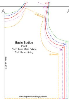 Free - basic bodice pattern