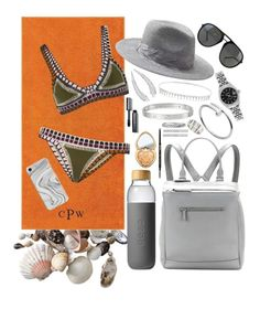 """""""beach iiii"""" by carmenledesma ❤ liked on Polyvore featuring Pottery Barn, kiini, Soma, Banana Republic, Too Faced Cosmetics, Givenchy, Bobbi Brown Cosmetics, Carbon & Hyde, Suzanne Kalan and Cartier"""