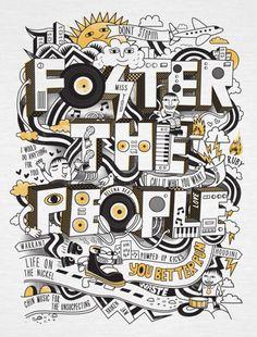 FOSTER THE PEOPLE TEE DESIGN by Dan Elijah Fajardo, via Behance