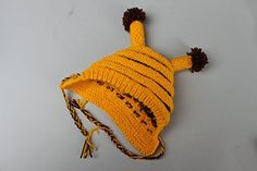 "Knitted Children's Hat ""Bee"" - I Crochet World Crochet World, American Girl, Crochet Bikini, Knitted Hats, Knitting Patterns, Bee, Children, Sweaters, Fashion"