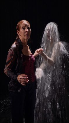 "Bill Viola, ""Visitation,"" video installation. Performers: Pam Blackwell and Weba Garretson. Photo: Kira Perov"