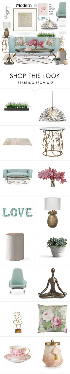 """Modern Love..."" by angiesprad ❤ liked on Polyvore featuring interior, interiors, interior design, home, home decor, interior decorating, Vintage, Nimbus, The French Bee and Jamie Young"