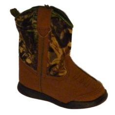 Amazon.com: Infant Boys Brown Cowboy Boots with Green Cammo: Shoes
