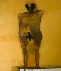 Figure in the Shower, 2008 acrylic & oil on canvas 190x160cm by Do Hoang Tuong