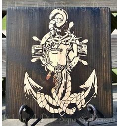 Jesus is the Anchor of my soul, Stained wooden plaque, Painted wooden sign,Mother's Day, Housewarming Gift, Home Decor, Anniversary by FishInADishDesigns on Etsy