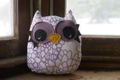 owl toy owl decor pillow stuffed owl plush by 5orangepotatoes, $16.00
