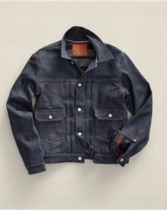 Gift idea: hands down a winner gift for the denim lover, this 1950's inspired denim jacket from Ralph Lauren | On sale for $262.50 #holidaygifts #nattyguy #mensfashion