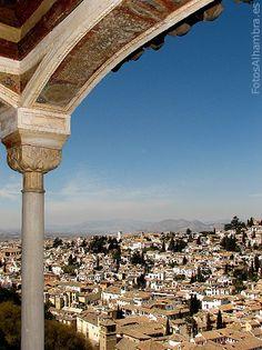 Albaicín desde el Peinador de la Reina.  http://www.costatropicalevents.com/en/costa-tropical-events/andalusia/cities/granada.html. Spain