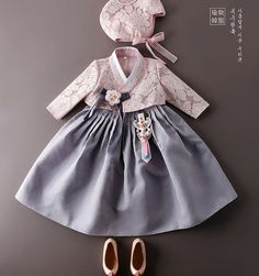 s Clothing Children' Korean Traditional Dress, Traditional Fashion, Traditional Dresses, Korean Outfits, Kids Outfits, Baby Girl Fashion, Kids Fashion, Korea Dress, Dress Anak