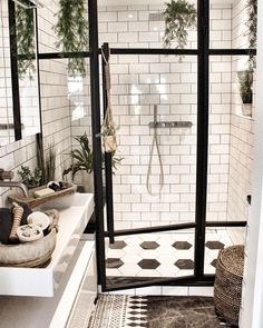 To Expect From White Subway Tile Bathroom 99 White Subway Tile Bathroom, Best Bathroom Tiles, Dream Bathrooms, Amazing Bathrooms, White Tiles, Brown Bathroom, Gold Bathroom, Bathroom Ideas, Subway Tile Bathrooms