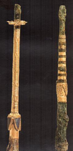 The Hettiters, gold - plated needles (A), Kültepe (Tahsin Özgüç) (Erdinç Bakla archive)