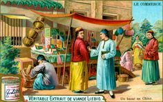 A bazaar in China by Anonymous