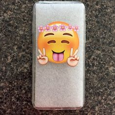 Hippie emoji phone case Clear silicone flexible case for iPhone 6/6S. Price firm. 2 for$15 if you mix with another case in closet marked the same. New in packaging. Accessories Phone Cases
