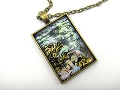 Hand Painted Angel Necklace Hand Painted by #CollinsCustomCrafts #angelnecklace #handpaintedjewelry