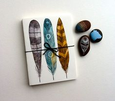 Driftwood Feather Notecards - Greeting Cards - Fine Art Cards. $24.00, via Etsy.