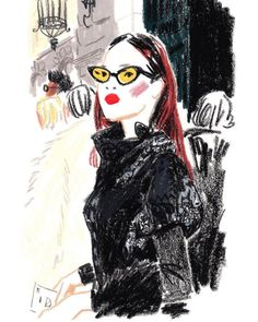 "damienflorebertcuypers: "" Daily #pfw #snapsketch for @tmagazine : Duang Poshyanonda (@duangposh), editor-in-chief of @bazaarthailand, queuing in front of the Garde Républicaine before the @hermes show today. (at Garde Républicaine - Quartier des..."