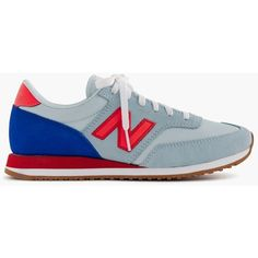 Women's New Balance For J.Crew 620 Sneakers ($99) ❤ liked on Polyvore featuring shoes, sneakers, new balance trainers, new balance, rubber sole shoes, suede shoes and new balance shoes