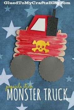 Popsicle Stick Monster Truck - Kid Craft