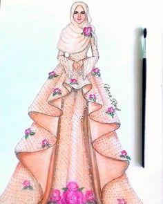 Trendy Design Dresses Drawing Muslim 32 Ideas Source by ideas drawing Dress Design Drawing, Dress Design Sketches, Fashion Design Drawings, Dress Drawing, Fashion Sketches, Fashion Drawing Dresses, Fashion Illustration Dresses, Fashion Sketchbook, Fashion Moda