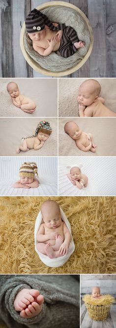 20 day old Brady and his in home, natural light newborn photography session. Lots of neutral props and colors.