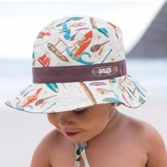 feeeb6fe593 REVERSIBLE Oar Boys Sun Hat for Baby Boys and Toddler Boys