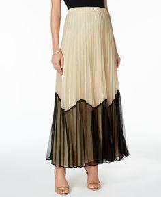 Msk Colorblocked A-Line Skirt