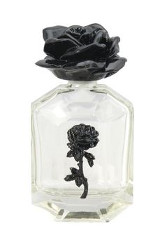 BLACK ROSE PERFUME BOTTLE - BRONZE