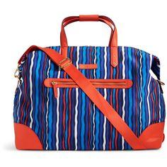 6b88dd867a68 Vera Bradley Preppy Poly Travel Duffel Bag in Cobalt Stripe (6.575 RUB) ❤  liked