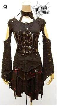 dark emo dresses | ... Store: Gothic Clothing, Cyber Goth Clothes, Emo Punk Rivet Mens Womens