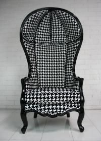Room Service LA - Houndstooth Balloon Chair