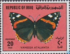 Postage Stamps - Iraq - Butterflies