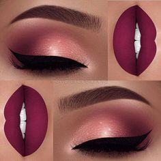 Beste Make-up dunkelrosa Lippen machen Ideen - Beste Make-up dunkelrosa Lippen machen Ideen Informationen zu Best makeup dark pink lips mak - Cute Makeup, Gorgeous Makeup, Pretty Makeup, Clown Makeup, 80s Makeup, Sleek Makeup, Halloween Makeup, Witch Makeup, Awesome Makeup