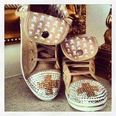750fa9870a2d0e Customised ugg high tops   bling   Swarovski   cool   weekend shoes   cross    embellished