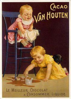 Publicité Cacao Van Houten                                                                                                                                                                                 Plus