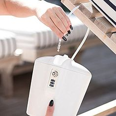 Amazon.com : SAFEGO Portable Indoor/Outdoor Lock Box Safe with Key and Combination Access (White) : Office Products
