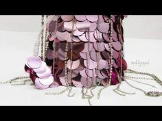YouTube Crochet Handbags, Crochet Purses, Purse Patterns, Crochet Patterns, Bag Pins, Potli Bags, Beaded Crafts, Beaded Bags, Button Crafts
