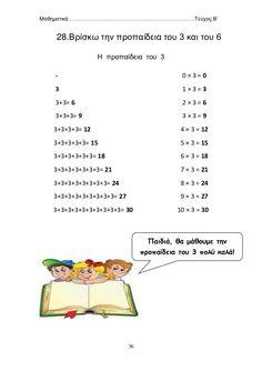 μαθηματικά β΄δημοτικού β΄τεύχος School Frame, Education, Maths, Words, Childhood, Infancy, Onderwijs, Learning, Childhood Memories