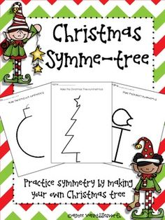 Christmas Symme-tree Freebie by Aimee VanMiddlesworth Symmetry Math, Symmetry Activities, Symmetry Worksheets, Classroom Crafts, Classroom Fun, Classroom Activities, Christmas Activities, Christmas Maths, Kindergarten Christmas