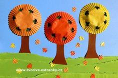 Podzimní stromy z cukrářských košíčků
