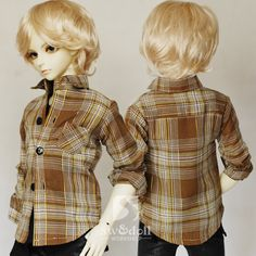 BJD doll clothes [Plaid shirt multicolor 1/4.1/3 uncle LUTS.DOD.AS.DZ.SD of baby clothes - Taobao 45.00