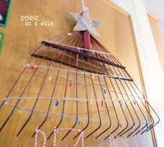 Christmas Tree Card Holder from an Old Rake