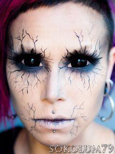 Ange de la Mort (Tutorial) Halloween Halloween maquillage ~ fait sérieusement me fait penser à la façon dont les démons regardent comme Sam est de les exorciser à la mort finale. So cool! Grande Halloween maquillage idée! ~ J.
