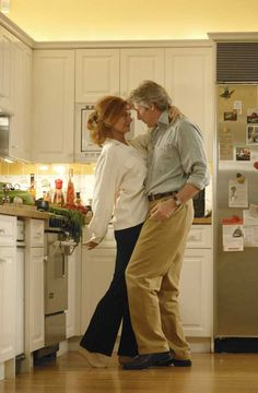 """""""Shall We Dance?"""" ~ Susan Sarandon and Richard Gere, co-stars of """"Shall We Dance? Vieux Couples, Old Couples, Susan Sarandon, Shall We Dance, Lets Dance, Dancing In The Kitchen, Dance Movies, Film Dance, Dance Like No One Is Watching"""