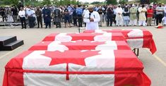 Hundreds of mourners gathered in the Canadian city of London on Saturday afternoon for the funeral of Muslim family run over and killed by a man in a pick-up truck in a hate terrorist attack. #Islam #canada #muslim