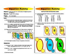 7th - 8th Grade Math Game. Solve and verify one and two step equations games.That's what this Math File Folder Games includes - printable math ...