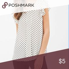 Fluttered Sleeve Polka Dot Blouse Cream blouse with black polka dots. Fluttered sleeves. Wash cold, line dry. Forever 21 Tops Blouses