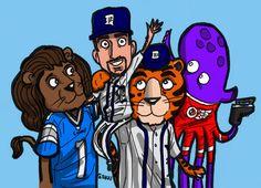 Detroit sports mascots